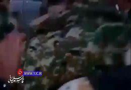 فیلمی از حضور سردار سلیمانی در بین مردم سوریه