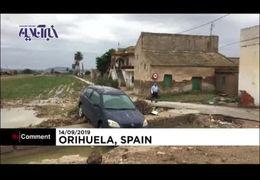 سیل وحشتناک در اسپانیا+ فیلم