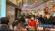 صف طولانی مردم هنگ کنگ برای خرید ماسک + فیلم