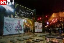 تصاویری از حال و هوای مزار سردار شهید سلیمانی+ فیلم