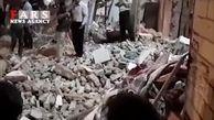 فیلم ویرانی کامل ساختمان 3 طبقه در منطقه خیرآباد ورامین