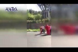 صحنه ایی از خودکشی  دردناک جوان ۲۸ ساله در پل طبیعت+ فیلم