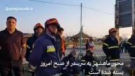 تصاویری از خارج کردن هواپیمای کاسپین از جاده بندر ماهشهر+ فیلم