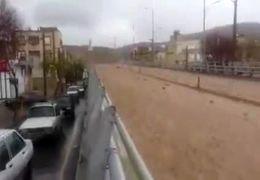 سیل دوباره به شیراز رسید+ ویدئو