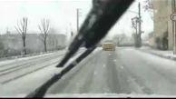 بارش شدید برف در کرج+ فیلم