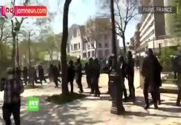 حمله وحشیانه پلیس  علیه جلیقه زردها