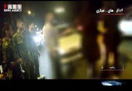 فیلم درگیری دختر مست و بی حجاب با پلیس که در شبکههای اجتماعی دست به دست میشود