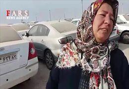 وضعیت اسف بار پارکینگ خودروها در مرز چذابه+ فیلم