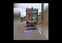 فیلمی دردناک از  زجرکش کردن الاغ با کامیون