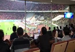 هوادارن عصبانی سپاهان  اقدام به شکستن صندلی ها کردند+فیلم