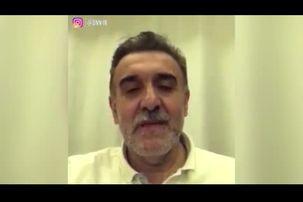 فیلمی از دکتر قدیر رئیس دانشگاه علوم پزشکی قم بعد از قرنطینه شدن