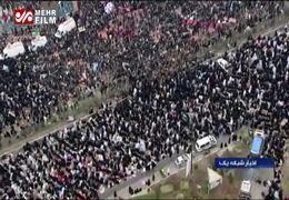 تصاویر هوایی از حضور میلیونی مردم در نماز جمعه تهران+ فیلم