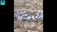اولین تصویر هوایی از مناطق زلزلهزده در آذربایجان شرقی+ فیلم