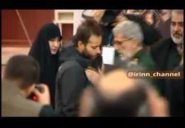 لحظه دیدار فرزندان شهید سردار سلیمانی با اسماعیل قاآنی فرمانده جدید نیروی قدس سپاه+ فیلم