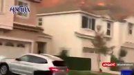 تصاویری از  آتش سوزی مهیب  در لس آنجلس