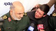 گریه های فرمانده کل سپاه  در دیدار با خانواده جانباختگان آذربایجان+ فیلم