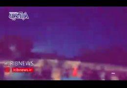 فیلمی از لحظه درگیری نیروهای امنیتی و تظاهرکنندگان در کربلا