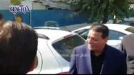 خوش وبش فردوسی پور و ولیموتس در حاشیه مراسم ترحیم مهدی شادمانی