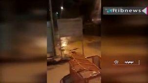 سیلاب در شهرستان های نطنز و کوهپایه استان اصفهان + ویدئو