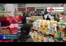 هجوم مردم به سمت فروشگاههای زنجیره ای پس از شیوع کرونا+ فیلم
