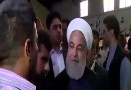 فیلم درد دل مردم سیل زده خوزستانی با رئیس جمهور