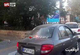 آتش گرفتن پمپبنزین خیابان شریعتی به دلیل افزایش قیمت بنزین+ فیلم